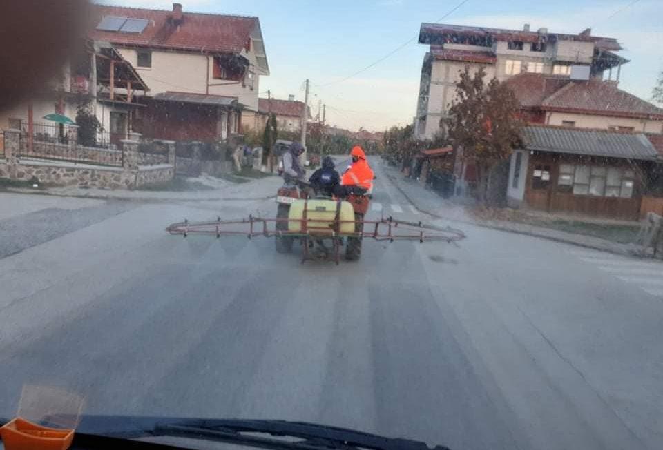 ТППЕ , врши дезинфекција на улиците во Берово