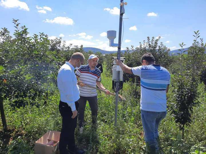 Информации за инсталирање на апликација за користење на податоците од поставената агрометеоролошка станица во Берово