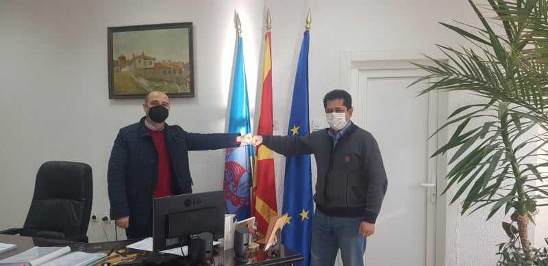 Градоначалникот Пекевски оствари средба со Советникот за решавање на правни прашања и постапки Аксел Ахмедовски