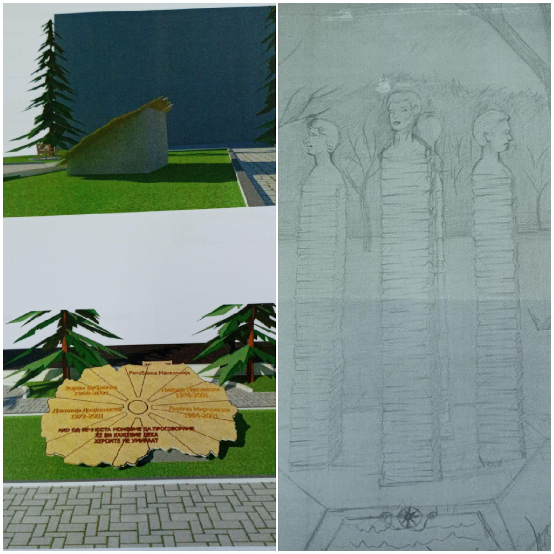 Јавно излагање на идејни проекти, поднесени согласно јавен конкурс за изработка на идеен проект за подигање на спомен обележје