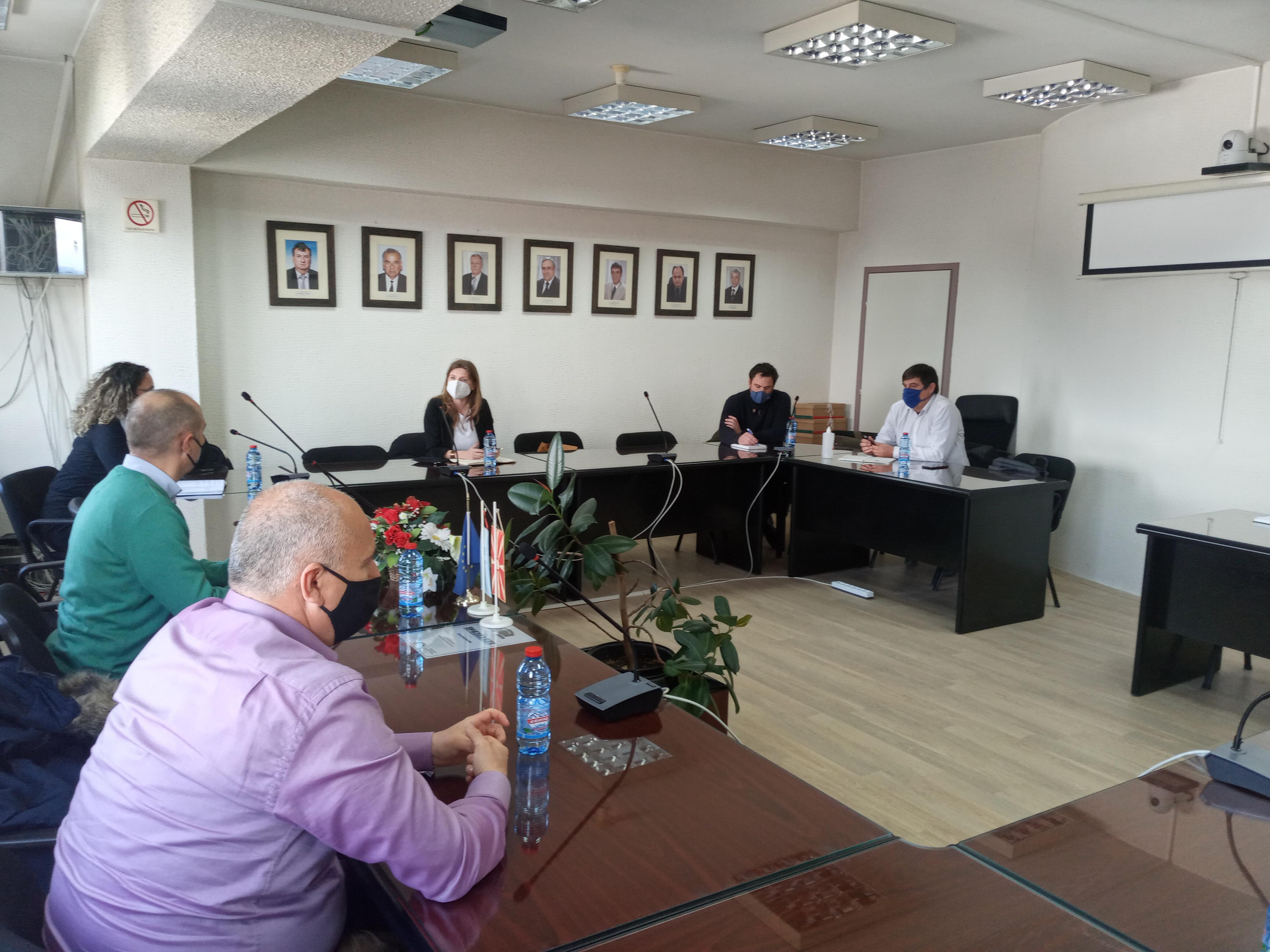 """Градоначалникот Пекевски оствари средба  со Претставници од Здружението """"Khronos"""" од Република Унгарија"""